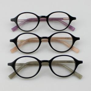 Retro Acetate Round Eyeglasses Frames Custom Handmade Acetate