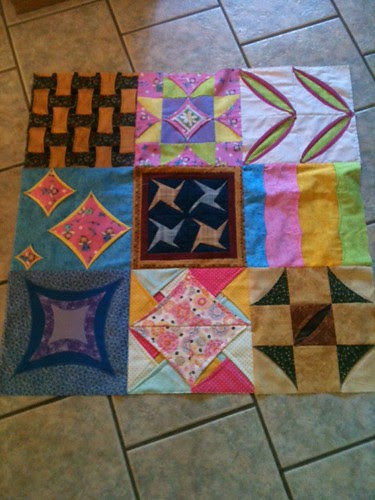 Cathedral Window Quilt Sampler