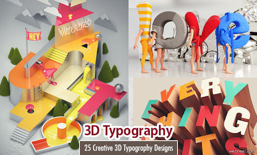 60 Creative 3D Typography Designs and Ads for your Inspiration