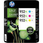 HP 952XL High-Yield Original Ink Cartridges, Combo Pack - 3 count