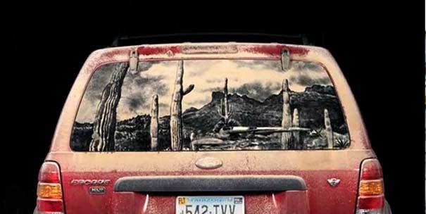 Έργα τέχνης σε σκονισμένα αυτοκίνητα (17)