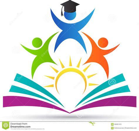 education logo people celebration student  book