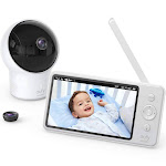 Baby Monitor, Eufy Security Video Baby Monitor, 720p HD Resolution, Ideal for New Moms, 5 inch LCD Display, 110° Wide-Angle Lens Included, Night
