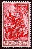 United States Postage Stamp Commemoration to Franklin