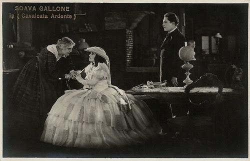 Soava Gallone, Jeanne Brindeau and Gabriel de Gravone in La cavalcata ardente
