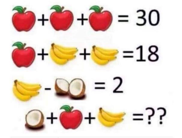 Problema De Matematica Com Frutas Faz Sucesso Nas Redes Sociais Revista Glamour Must Share
