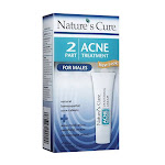Natures Cure Two Part Mens Acne Treatment - 1 Month Supply