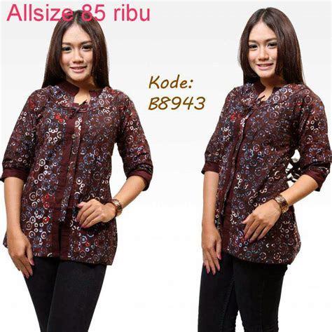 Baju Batik Terbaru 14 Model Baju Batik Kerja Wanita Terbaru Yang 2648c865ab
