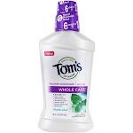 Tom's of Maine Natural Whole Care Fluoride Mouthwash Fresh Mint 16 fl oz
