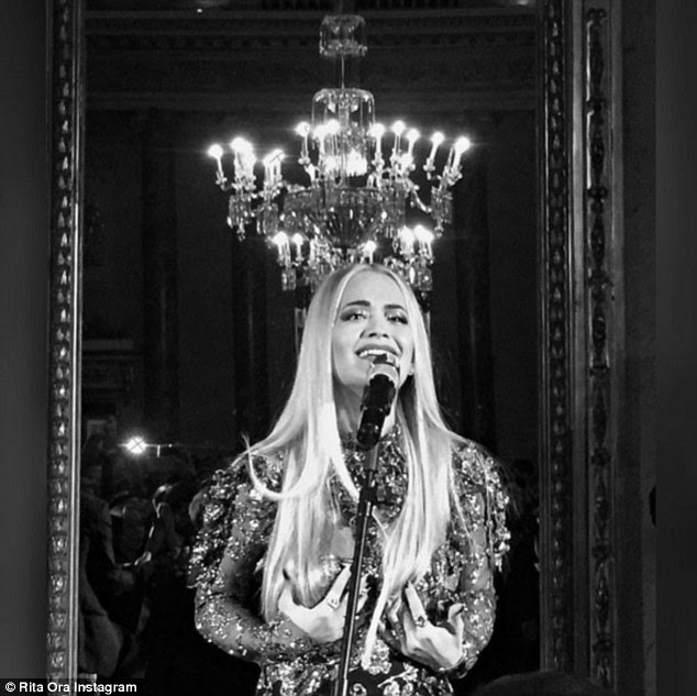 Top performer: The blonde took to the stage that night to give a performance