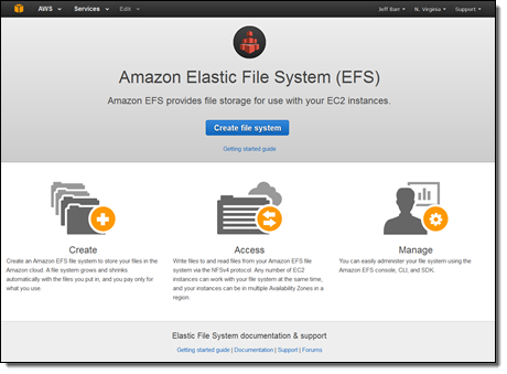Amazon Elastic File System – Production-Ready in Three Regions