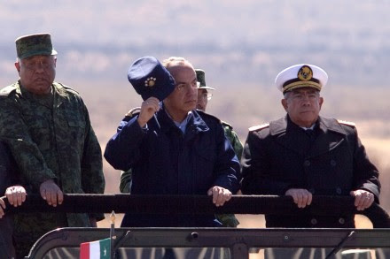 Galván, Calderón y Saynez en una foto de febrero de 2011. Foto: Eduardo Miranda