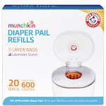 Arm & Hammer Munchkin Diaper Pail Refill Bags - 20 pack