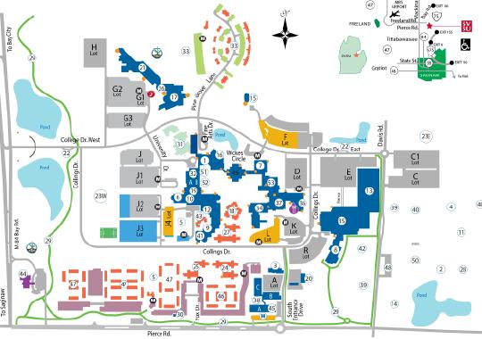 Svsu Campus Map | Earth Map