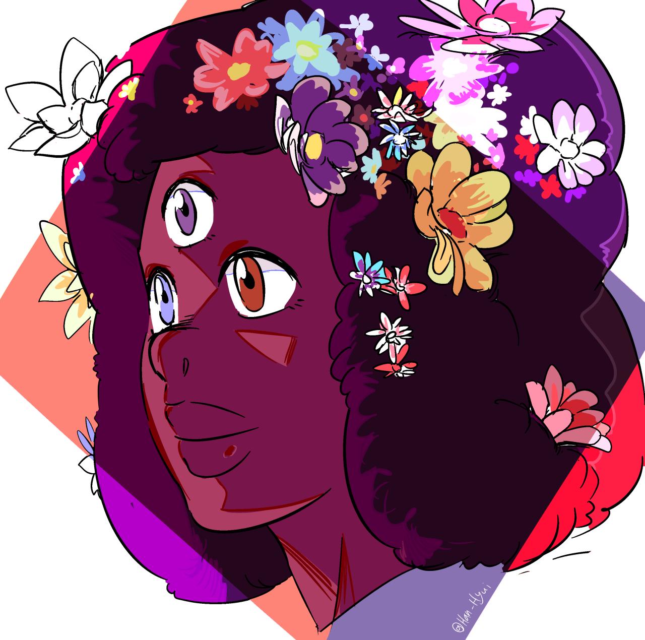 Garnet and flowers