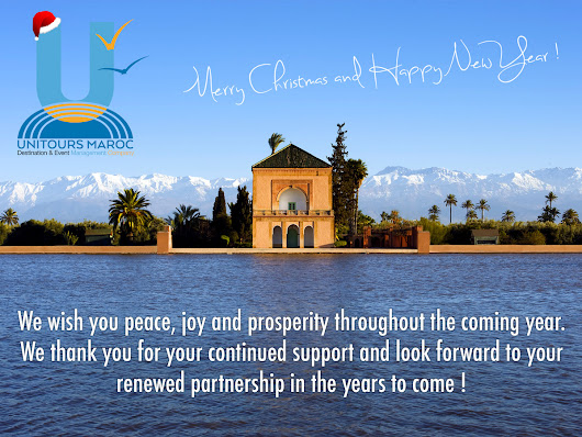 Merry Christmas and Happy New Year from Unitours team in Marrakech !