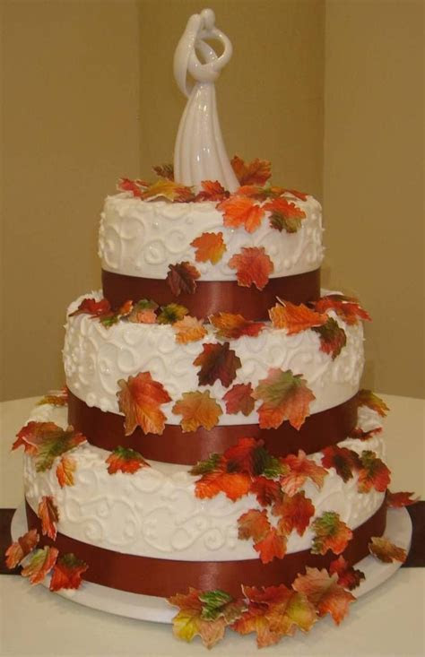 48 best images about fall wedding cakes on Pinterest
