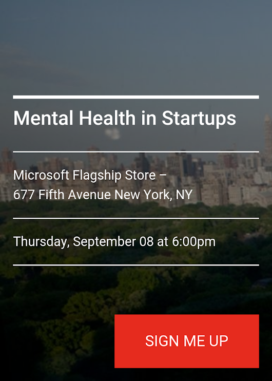Mental Health In Startups - Splash