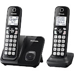 Panasonic KX-TGD512B Expandable Cordless Phone with Handset - Black