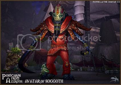 Postcards of Azeroth: Avatar of Soggoth, by Rioriel Ail'thera of theshatar.eu