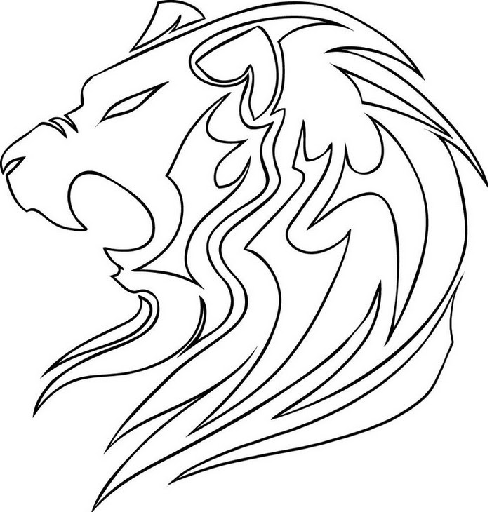 Coloriage Anti Stress Animaux Lion 1