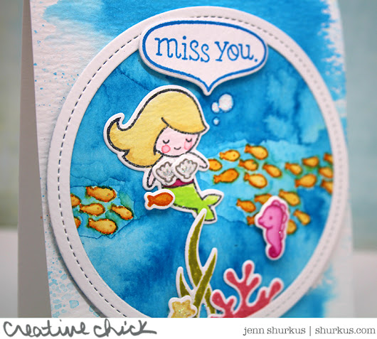 Mermaid Miss You, Lawn Fawn - {creative chick} | shurkus.com
