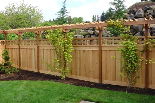 Garden Ideas Along Fence landscaping fence ideas. exterior decoration amazing garden fence