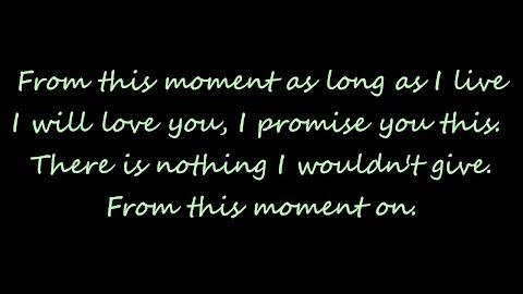 Shania Twain From This Moment Lyrics
