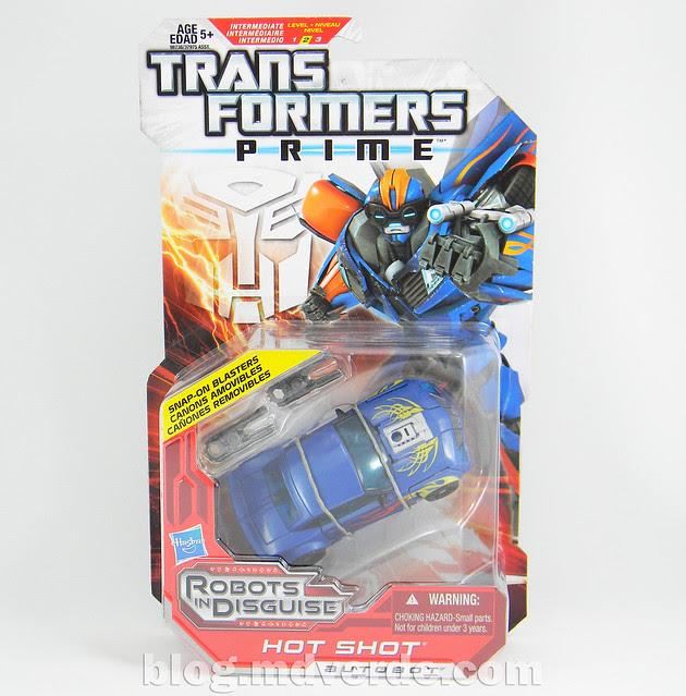 Transformers Hot Shot Deluxe - Transfomrers Prime RID - caja