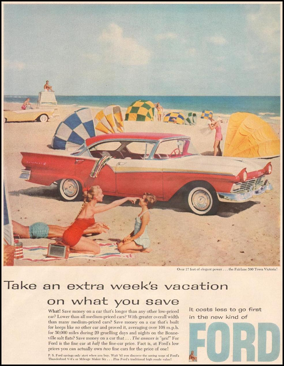 FORD AUTOMOBILES LIFE 06/24/1957 p. 72