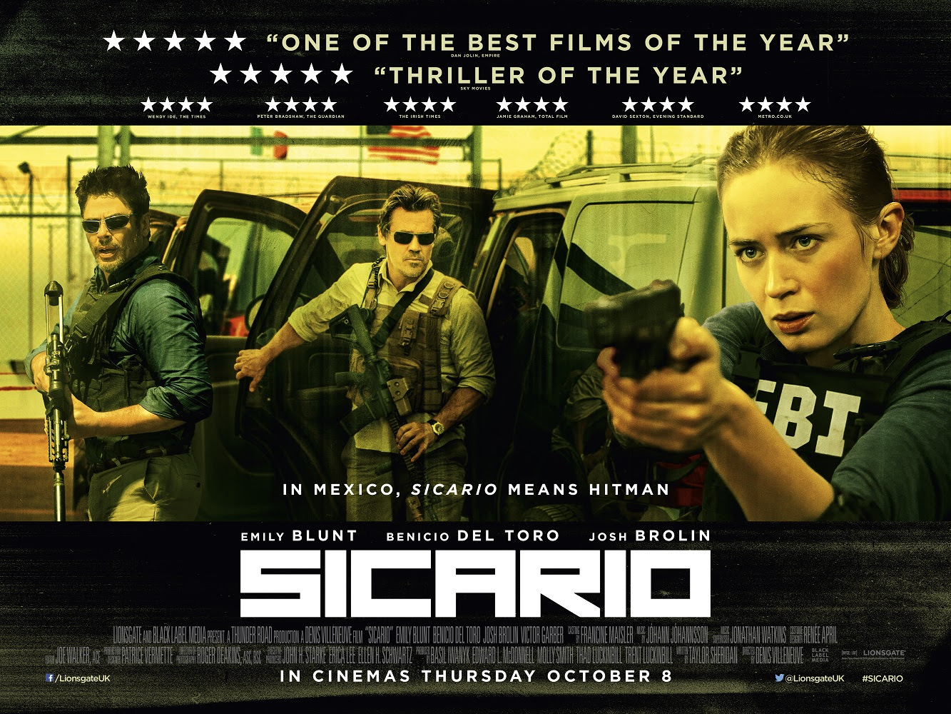 Image result for Sicario movie poster