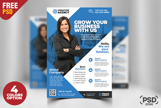 Corporate Business Flyer Free PSD Set - PSD Zone