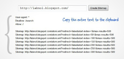 How to Add a Google XML Sitemap to your Blogger Blog