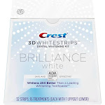 Crest 3D Whitestrips Brilliance White Teeth Whitening Kit, 16 Treatments