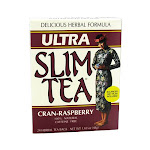 Hobe Labs Delicious Herbal Ultra Slim Tea, Cran-Raspberry - 24 Bags