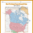 North America Countries Word Search Puzzle
