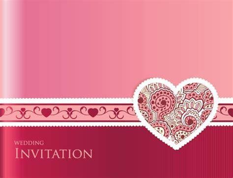 Wedding invitation cards vectors