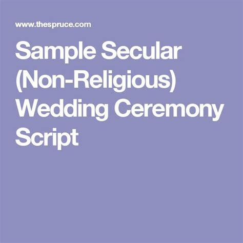 25  best ideas about Non religious wedding ceremony on