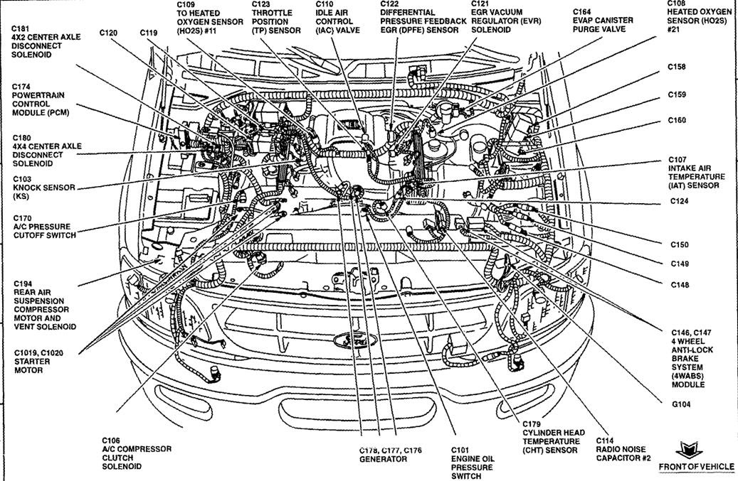 1999 Ford F150: I need a drawing of the engine wiring harness
