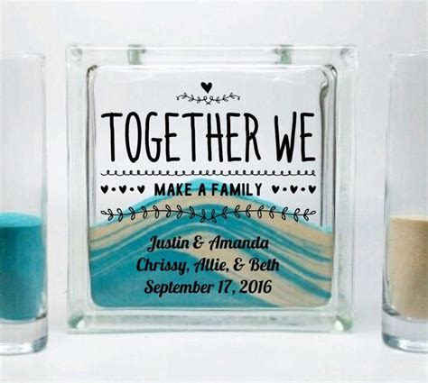 Unity Sand Set for Blended Family   Unity Candle