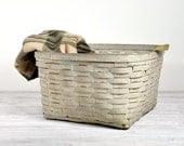 Vintage Basket / Woven Basket with Handles / Wicker Basket - havenvintage