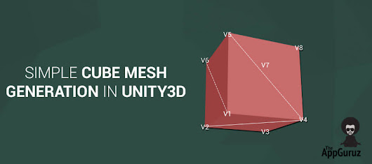 Simple Cube #Mesh #Generation in #Unity3D