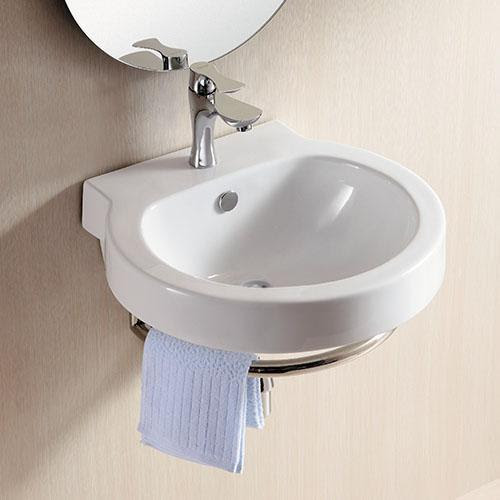 Granton Vitreous China Wall Mount Bathroom Sink With Towel Ring Magnus Home Products