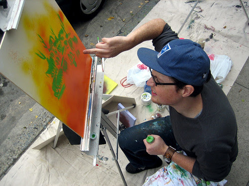 painting with his third eye