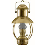"18"" Gold and Clear Traditional Oil Trawler Lamp by Christmas Central"