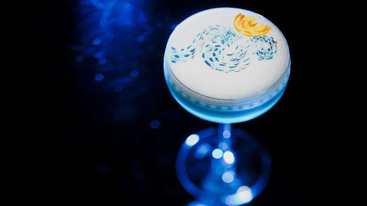 Behold Amazing Cocktail Art Inspired by Dalí, Mondrian, and Van Gogh