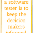 Role of a software tester - 6MTech
