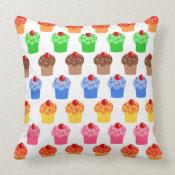 Colorful Cupcake Pattern mojo_throwpillow
