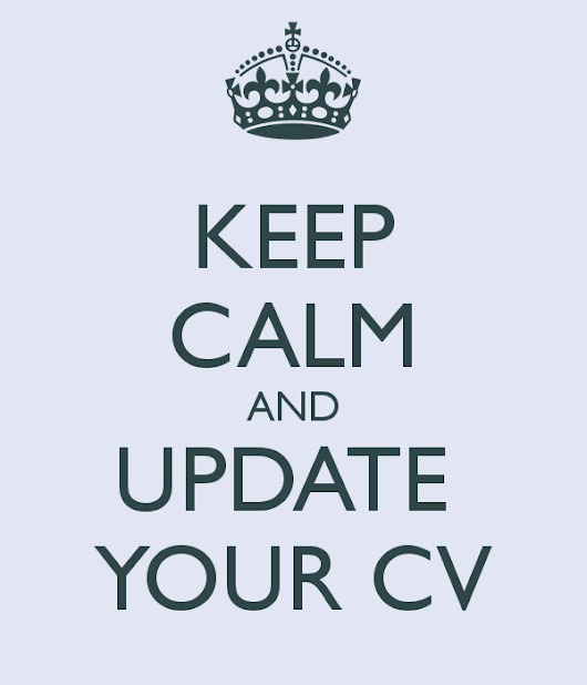 GRN CV Tips, part II: Don't wait for a job search to update your CV – do it today!