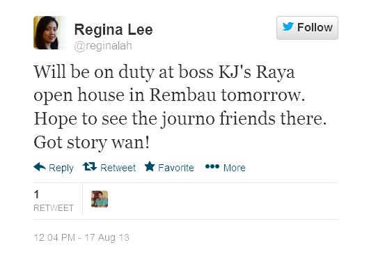 reginalah Will be on duty at boss KJs